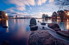 Twin suns (screenstreet) Tags: longexposure sunset lakes lakeginninderra colorefexpro nd110 tokina1116mmf28