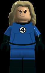 Invisible Woman (911Bug) Tags: blue woman storm black four fantastic invisible 4 blonde sue minifig marvel richards minifigure