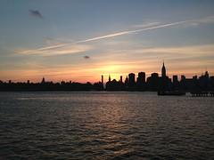 Manhattan sunset from Greenpoint (ClarissaWAM) Tags: nyc newyorkcity sunset newyork manhattan greenpoint