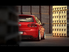 (Andrew Barshinger Photography) Tags: auto sunset urban car vw volkswagen interesting euro low automotive clean explore static gti stance mk6 stanceworks stancenation