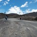 Cycling down the volcano