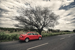 Skoda Rapid (Prabhu B Doss) Tags: road india car rural sedan landscape highway sigma wideangle suburb chennai rapid skoda elegance nikond80 prabhub prabhubdoss arakonam zerommphotography tirumalpur