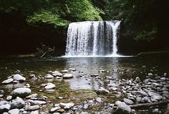 upper butte creek falls lomo (adie reed) Tags: trees film water oregon 35mm waterfall lomo lca splashpool upperbuttecreekfalls