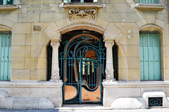 interesting entrance (rapounzel7) Tags: door paris france building architecture gold columns entrance architect artnouveau doorway veramant