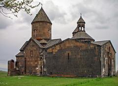 Saghmosavank monastery, the Church of Zion, 1215. Armenia (Tiigra) Tags: 2006 armenia saghmosavank architecture church spire village saghmosavan aragatsotn