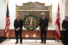 Ceremony at FDNY Headquarters (Official New York City Fire Department (FDNY)) Tags: 2001 memorial worldtradecenter 911 fireman wtc sept11 september11 firefighter paramedic fdny emt firedepartment nyfd 343 firewoman 91101 emergencymedicaltechnician emergencymedicalservice