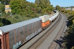 Odd combination of cars..... (Michael Berry Railfan) Tags: cn quebec montreal canadiannational autorack tankcars tanktrain montrealwest cn401 montrealsub