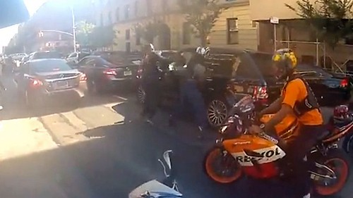 Video Range Rover drives over a group of Bikers . was his actions justified