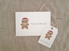 Cute Kotori Gingerbread Man Christmas Card and Gift Tag (Cute.Kotori) Tags: santa christmas xmas red cute hat paper cards happy tag gingerbread tags felt card gift bow kawaii merry twine kotori 2013