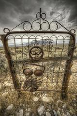 Great Basin Art (lilcapn) Tags: sculpture storm zeiss junk desert sony nevada great basin hdr 1635mm a850