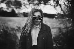 (laurawilliams) Tags: camera trip portrait blackandwhite selfportrait nature girl fashion self bokeh olympus