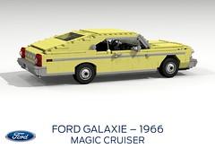 Ford Galaxie - Magic Cruiser Concept - 1966 (lego911) Tags: auto birthday usa classic ford car america model lego render magic 1966 concept 72 cruiser challenge galaxie cad lugnuts povray moc ldd miniland liftback lego911 lugnuts6thanniversary