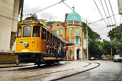 Rio de Janeiro - Santa Tereza (helenarj45) Tags: shadow brazil people tree men rio brasil riodejaneiro architecture outdoors women streetlight day rj publictransportation adult saopaulo hill tracks tram amarelo sp transportation cablecar commuter oldtown tramway santateresa onthemove bondinho transporte santatereza bonde tranvia trilhos tradio traveldestinations colorimage riodejaneirostate buildingexterior incidentalpeople largodocurvelo