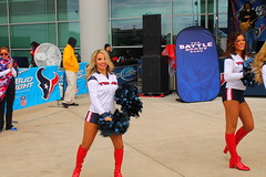 IMG_9969 (grooverman) Tags: plaza sexy canon eos rebel football nice texas cheerleaders legs boots stadium nfl houston booty t3 dslr budweiser texans pregame reliant 2013