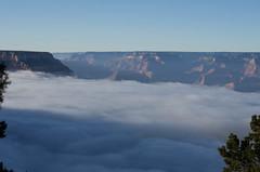 Grand Canyon (ArneKaiser) Tags: arizona autoimport grandcanyon clouds panorama landscape sky nationalpark nationalparks fog inversion weather flickr