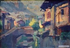 Romualdo Prati Scorcio di Calceranica olio su tavola 24x36cm Collezione privata