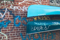Left Dry (TerryJohnston) Tags: nyc newyorkcity streetart newyork brick art wall graffiti paint tag canoe urbanart 6d urbanwall canon6d canoneos6d