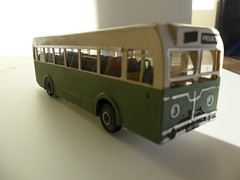 Let my introduce myself, I am a Sentinel bus, scratch built from plastic card, plans and photographs. Sorry about the crooked destination panel- late night! (handley.donald) Tags: bus green work model service fleet scratch built sentinel uttoxeter rugeley scratchbuilt beadle picsjan14 wheildons