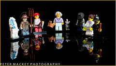 Lego figures series 11 (Peter_Mackey) Tags: reflection lego tabletop cls perspex sb800 focusstack 105mmf28dmicro d700