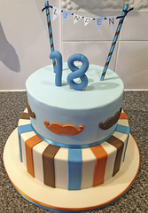Manly 18th Cake