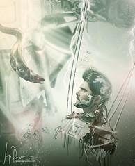 Underwater (Jorge_Perez) Tags: portrait photoshop photography robot photo underwater retrato cables jorge electricidad montaje autorretrato retouch morena fotomontaje rayos retoque submarino acutico cibor jorgeprez wwwjorgeperezcom jorgeperezfotografo