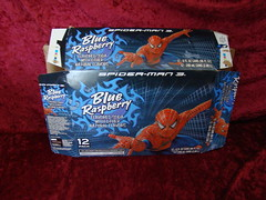 Spiderman Blue Raspberry Soda Pop in Mini Cans 2007