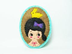 A girl that loves rabbits felt brooch (hanaletters) Tags: rabbit hat panda pin goldfish handmade brooch felt etsy hanaletters