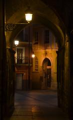 Teruel (nikos_m) Tags: street city winter espaa architecture night spain nikon farola aragon nightscene nightview teruel d7000