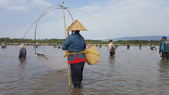 Participant using lift-nets