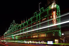 Harrods & The Bus (hakankalkan) Tags: iconic architecture city shopping traffic bus motion lights travel london harrods night