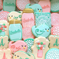 CountryCookiesGrouped (cREEative_Cookies) Tags: baby shower babyshower cookies harry potter elephant chic birds mason jar lace delicate flower sports its boy girl blessed baptism crib teddy bear kokeshi dolls sunshine clouds happy flowers girly boyish sugar edible art theme custom royal icing baked adorable roses daisies fondant booties shoes onesies bibs personalized sugarveil
