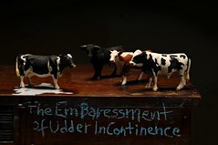 The Embaressment of Udder Incontinence (Studio d'Xavier) Tags: werehere milkinc udderincontinence milk cows cattle toys