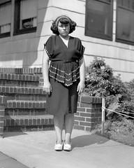 box of negatives0001.jpg (The Digital Shoebox) Tags: negatives monochrome girl outside dress people found snapshot ebay frontporch blackandwhite