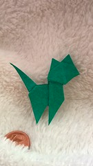 Cat (S. Nishikawa) (Helyades) Tags: cat chat nishikawa origami pli pliage fold carré square papier paper tissue soie animal