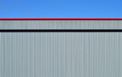 DSC_0229 (stu ART photo) Tags: abstract minimal city urban industrial red blue lines sky