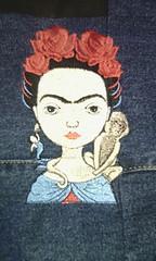 Frida C (leonilde_bernardes) Tags: frida bordados lembranças gifts girl acessorios moda bag saco ganga embroidery