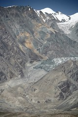 Painterly Glacier Mountainous Landscape  Karakoram Highway Xinjiang Uyghur Autonomous Region of China (eriagn) Tags: glacier snow painted painterly ice geology geological chinanationalhighway314 karakoramhighway kkh sanddune river dune mountain peak stonebuilding highway road highaltitude scenic landscape remote rugged eurasianplate indianplate tectonics sarykol yellowlake gezrivercanyon ghezriver karakullake murztaghata kyrghiz ethnic pakistan pamir kunlun silkroad traderoute ngairehart ngairelawson eriagn threadsinthesand expedition travel adventure photography route asia china centralasia farwesternchina cold minerals