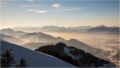 afternoon . Söll . Tyrol (:: Blende 22 ::) Tags: söll tirol österreich alpen scheffau bergbahn winter wintertime schnee snow canoneos5dmarkiv ef2470f28liiusm wolken bewölkt clouds cloudy mountain berge hütte ski sonne sun paragleiter segeln chapel kapelle terasse schindeln alpin