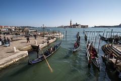 Gondola Congestion (the CAMera of ian CAMpbell; simple) Tags: venice italy venetian gondola gondolas