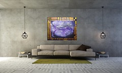 MisQue Art | Acrylbild Black Hole 100x80 cm (MisQueArt) Tags: livingroom living room interior design concept idea house lounge hotel apartment tropical tropicallivingroom modern minimal villa resort background sofa concrete concretewall wall yellow white wood tile moderne kunst acrylbid gemälde abstraktes abstrakte acrylbilder misque art acrylbild black hole 100x80 cm