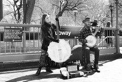 A bit of country in the city (paleyphotos) Tags: monochrome black white blackandwhite bw people person persons portrait street candid urban newyork nyc new york musician performer music