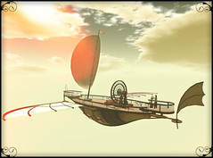 Draco#2 -airship- (hekirekika2017) Tags: secondlife airship sky ship steampunk fantasy jpk