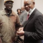 Vukoni Lupa-Lasaga, Ph.D. student, GSLIS and Wamba dia Wamba, W.E.B. DuBois Lecture, 2014