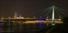 Avond Keulen 11 (conrad.seegers) Tags: brucke brug dom reflecties water kerk night