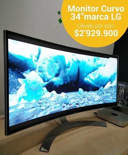 Adquiere en @compudemano Monitor Curvo de 34'' marca LG ideal para editar videos en alta calidad con una visión increíble. #cadadiamejor. Visita nuestra tienda o llámanos Bogotá: (1) 381 9922 - Medellín: (4) 204 0707 - Cali (2) 891 2999 - Barranquilla: (5