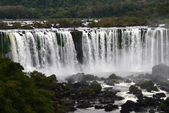 Iguassu Falls (3) (Mahmoud R Maheri) Tags: landscape fall iguassufalls waterscape iguacu brazil fozdoiguacu water river trees vegetation watercurtain