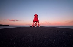 The Groyne at sunset, South Shields (Millerc1980) Tags: clouds sunset uk lighthouses red seaside pier pink sky sea thegroyne england northeast southshields lighthouse