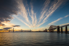The Three Bridges, The Forth, Scotland (Chris Golightly) Tags: forthbridge forthrailbridge firthofforth forth fife scotland weather stv