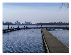 Early spring at the Kralingse Plas (AurelioZen) Tags: europe netherlands rotterdam skyline kralingseplas people
