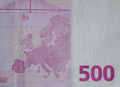 Five hundreds (500) Euro banknotes (phuong.sg@gmail.com) Tags: award background banknote bonus business capital cash credit currency depreciation earning euro euromoney european euros exchange finance financial investment lottery means metaphor millionaire money paper payday paying payment present profit prosperity reliability revenue reward rich sale savings stack stock success symbol union value wealth